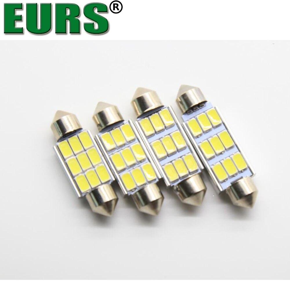 Eurs 10 шт. 36 мм 39 мм 42 мм C5W C10W 9 SMD 5630 5730 <font><b>LED</b></font> <font><b>Canbus</b></font> Нет Ошибка мотоцикл автомобиль свет гирлянда светодиодные фонари белый