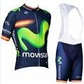 Movistar 2018 men verão manga curta camisa de ciclismo bicicleta bib shorts conjunto mtb ropa ciclismo maillot roupas sportwear