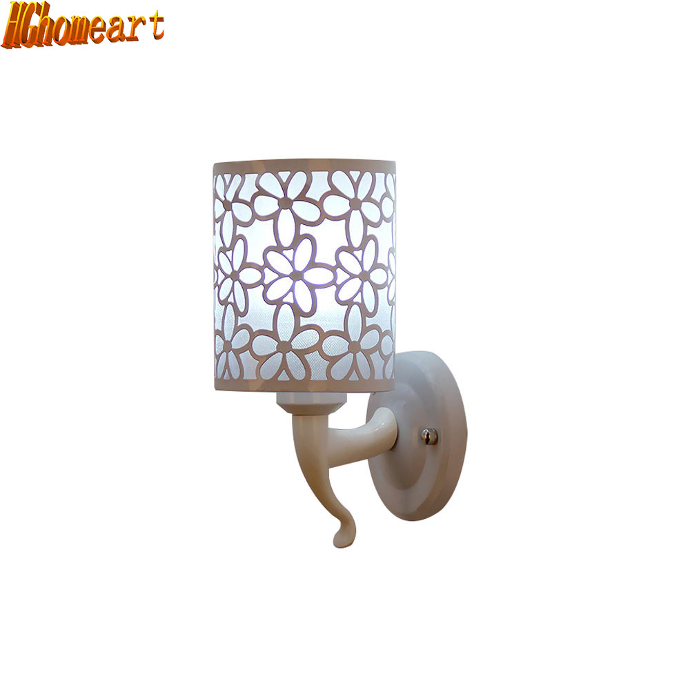 Led Fashion Carved Wall Light Modern Minimalist Wall Sconce E27 Korean Bedroom Bedside Wall Lamp Bathroom Lights Stairs Lamps