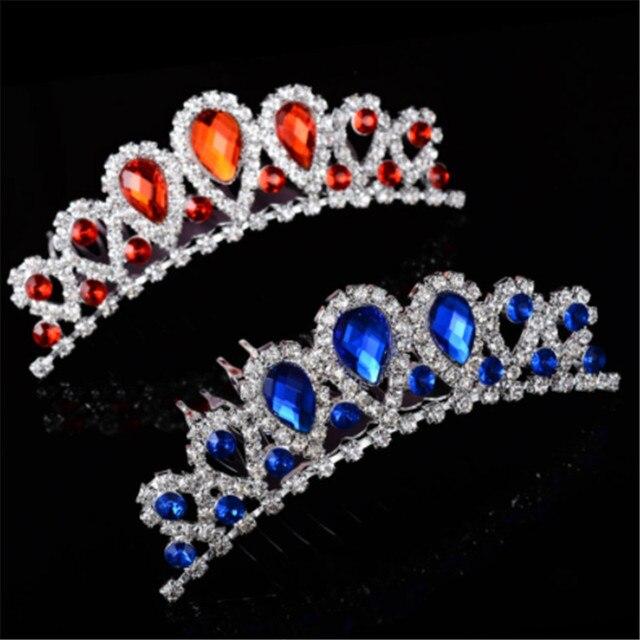 Pretty Bride Bridesmaid Hair Jewelry 2018 Hot Sale Tiaras And Crowns New  Girls Baby Crystal Tiara Comb Wedding Hair Accessories de6d9e1feb46