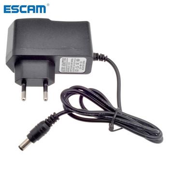ESCAM ue AU wtyczka uk us typ 12V 1A 5 5mm x 2 1mm zasilacz AC 100-240V do DC przejściówka do kamera telewizji przemysłowej kamera IP tanie i dobre opinie 12V1A Guangdong China (Mainland)