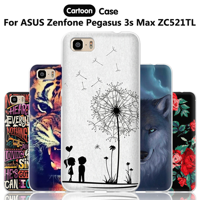 huge discount 31c2f 94d83 US $1.14 9% OFF|JURCHEN For ASUS Zenfone Pegasus 3s Max ZC521TL Case 5.2