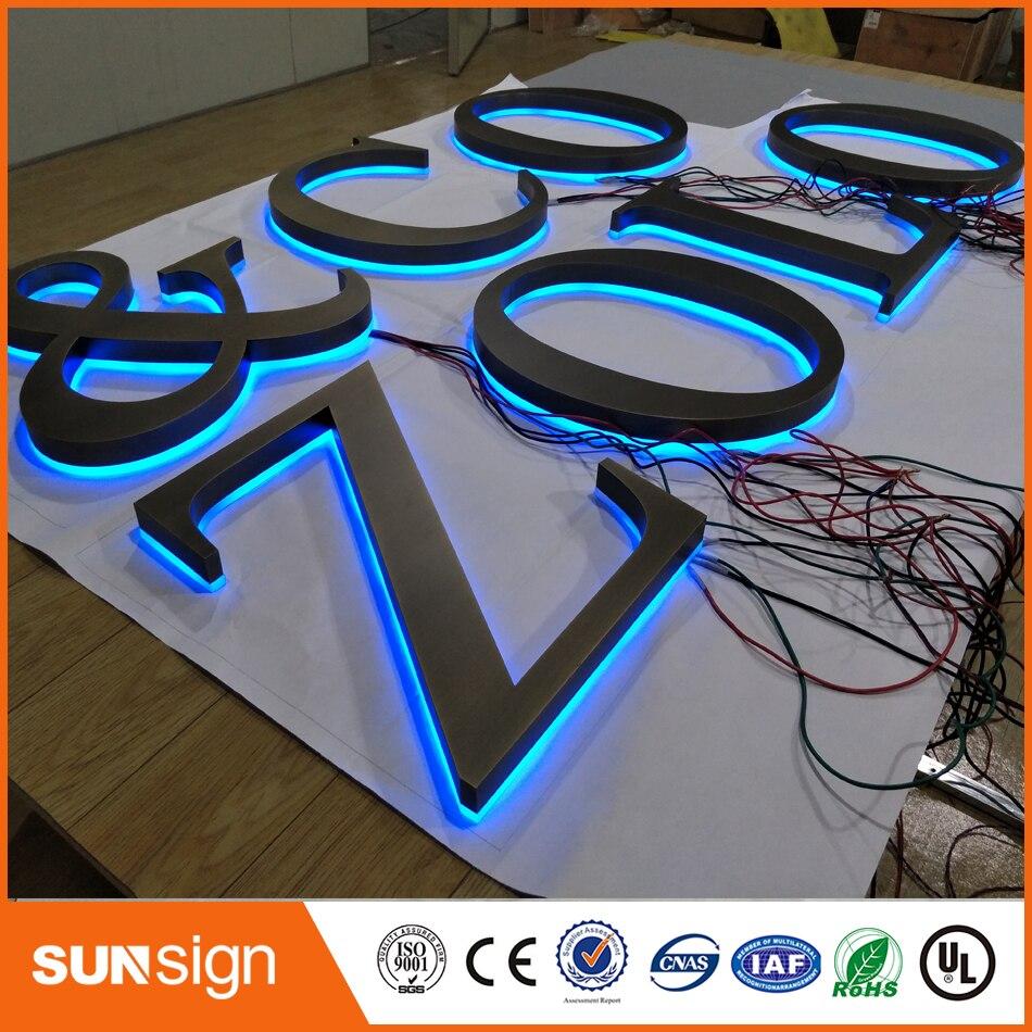 Открытый Светодиодное освещение оргстекло буквы для рекламы