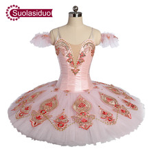 Pink Adult Professional Ballet Tutu The Sleeping Beauty Stage Performance Costumes Children Dance Competition Apperal