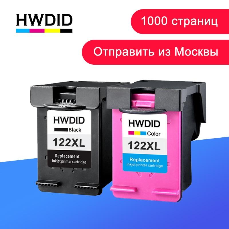 HWDID 122XL լիցքավորված թանաքային քարթրիջների փոխարինում HP 122- ի համար Deskjet 1000 1050 2000 2050s 3000 3050A 3052A 3054 1010 1510 2540
