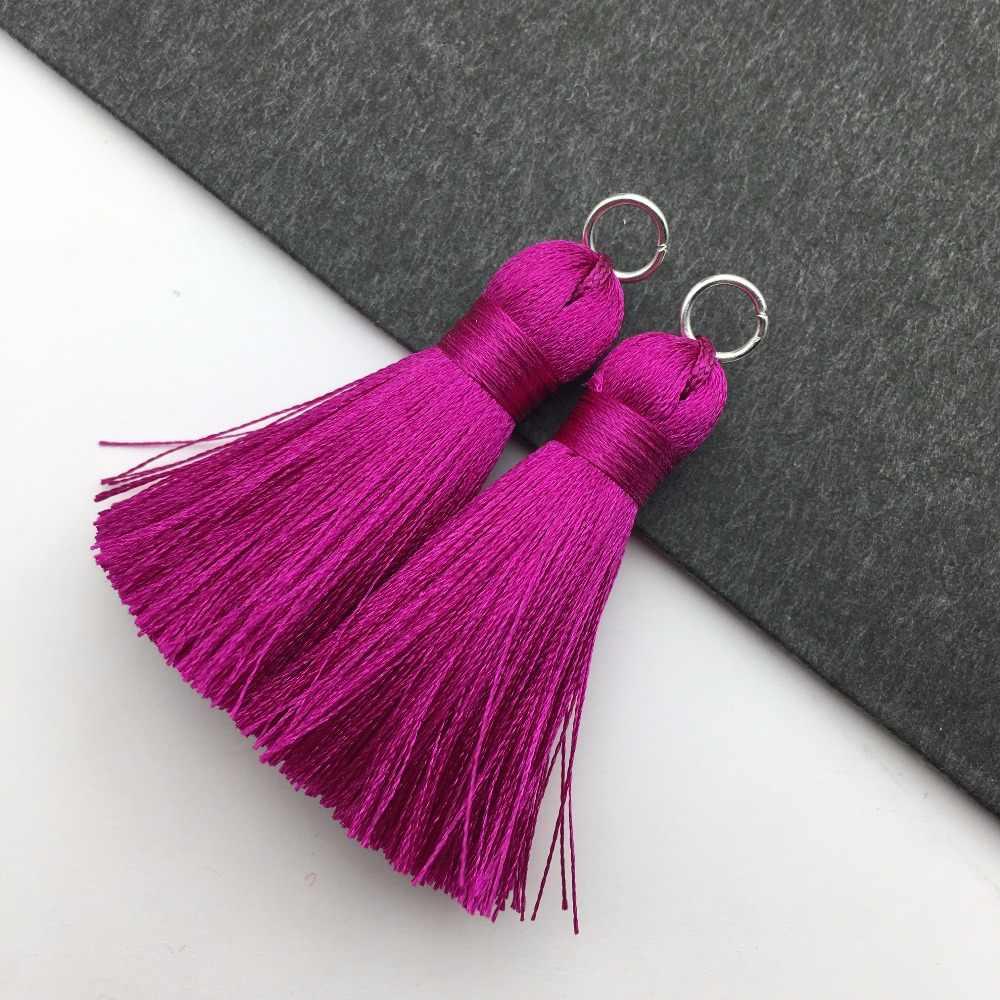 Assoonas L87, 4 CENTIMETRI, nappa, nappe di seta, risultati dell'orecchino, accessori dei monili, accessori di ricambio, componenti dei monili, fatto a mano, 2 pcs