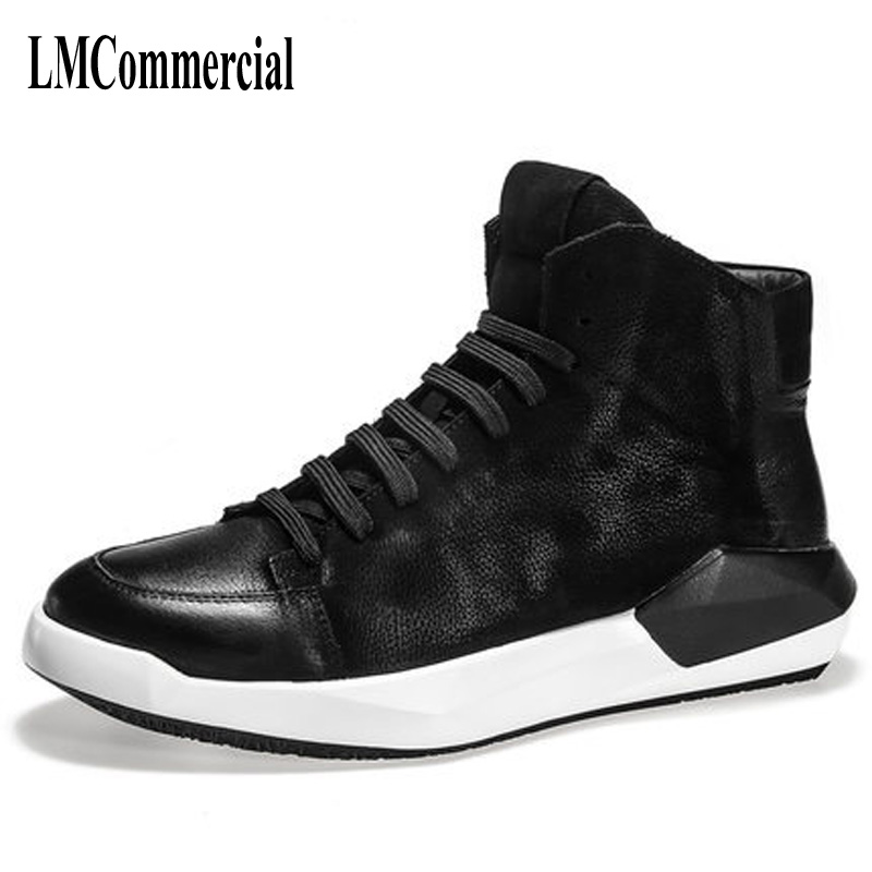 Autumn and winter high supreme leather casual men shoes he high tide shoes for men boots