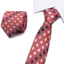high quality mans tie 8cm skinny ties Wedding dress neckties for men plaid cravate business pour homme rouge Red dot pattern