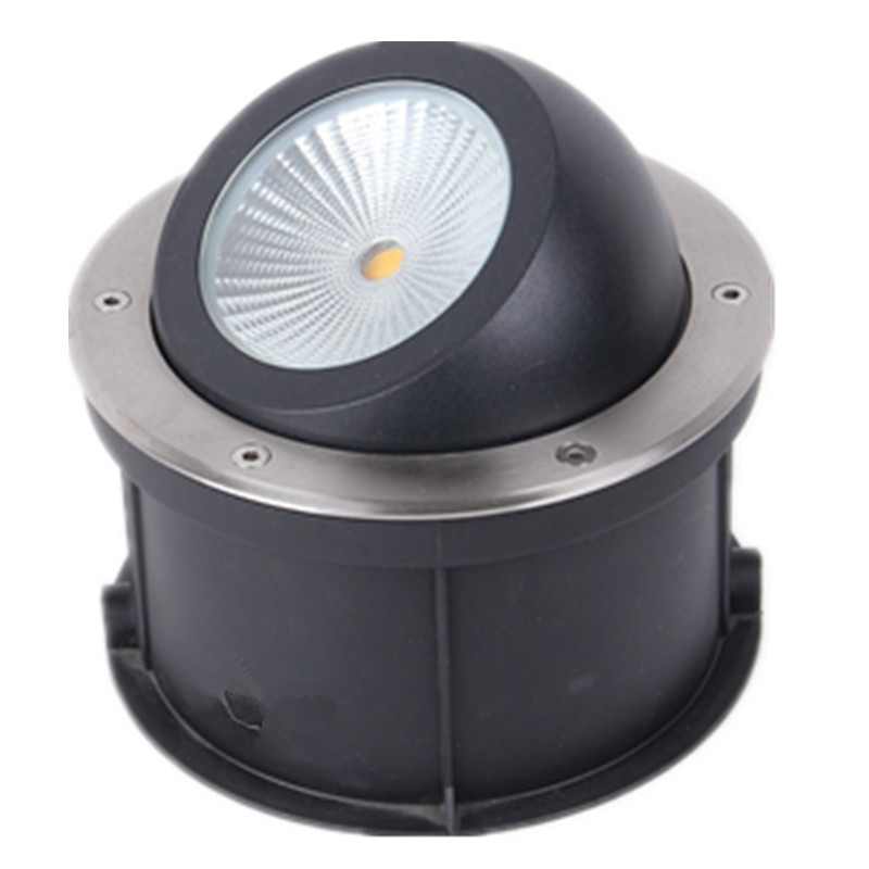 (10pcs/lot) Adjustable angle COB Buried Lamp 15W 20W 25W 30W Dimmable Deck Light Lamp,Recessed LED Inground COB underground free shipping ip68 10w 20w 30w 50w led cob underground light cob inground light diameter 250mm ac85 265v led outdoor lamp