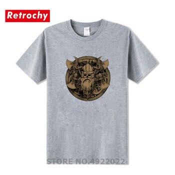 Vikingo Odin Lothbrok Hombre Ragnar Camiseta Calavera Warrior Hijos Clásico Viejo Barata Ropa Retro De Marca QrCxtshd