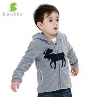 Svelte Brand Animal Embroidery Autumn Winter Coat Boys Kids Fur Coat Fleece Hooded Jacket Clothes Children