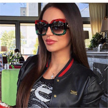 ASOUZ 2019 new fashion square ladies sunglasses classic brand design mens glasses UV400 large frame driving