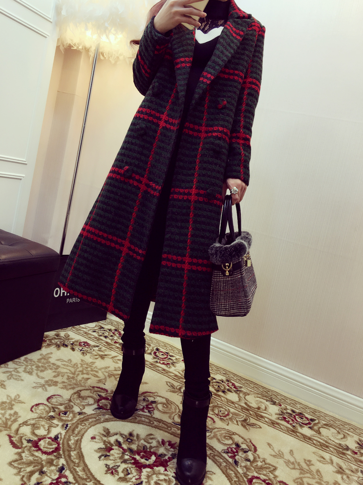 women jacket women winter coat New winter coat Slim wool font b tartan b font child