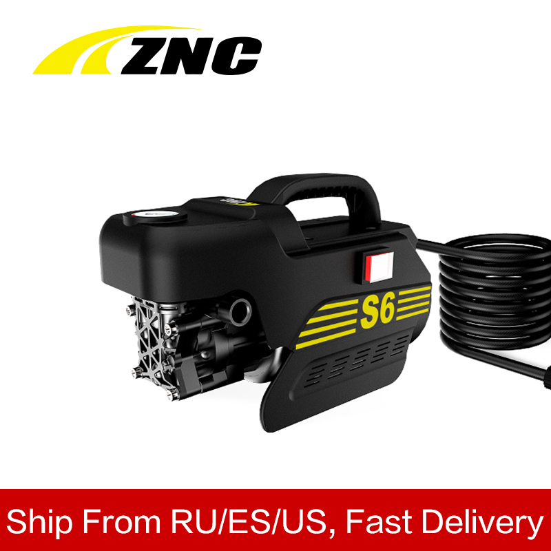 ZNC High Electric Pressure Car Washer High FLow 7LPM Self Suction Cleaning Self Suction Cleaning Machine High Pressure Gun Z6(China)