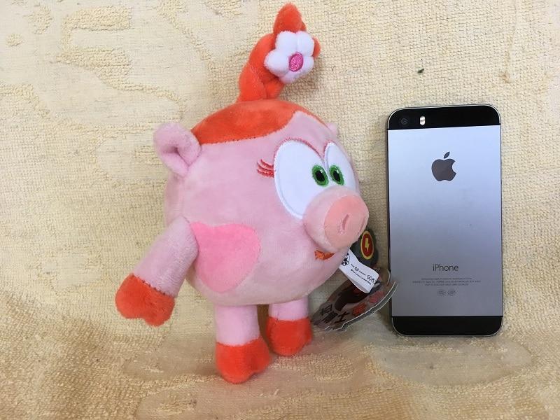 Genuine-1pcs-12cm-smeshariki-plush-toy-penguin-rabbit-deer-pig-russian-cartoon-Character-Gogoriki-doll-kikopiki-game-image-toys-3