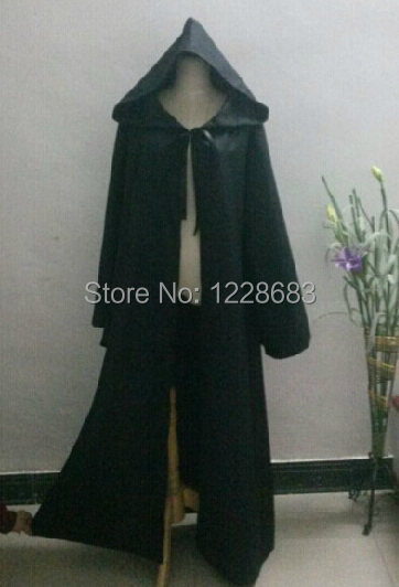Star Wars Darth Vader Cosplay Jedi Black Robe Cloak Cape for Men Darth Vader Costume