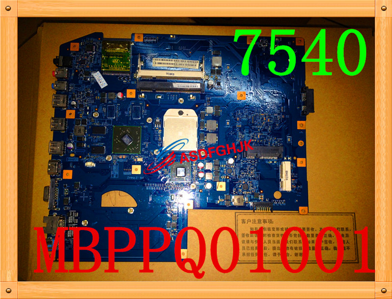 Original for ACER ASPIRE 7540 motherboard MBPPQ01001 JV71-TR8 48.4FP03.01M DDR2 100% work perfectly acer x113p