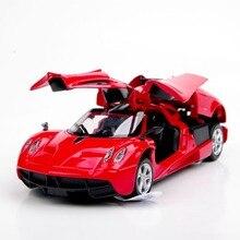 1 32 Mini Red Alloy Pagani Zonda Car Scale 1 32 Diecast Car Model w light
