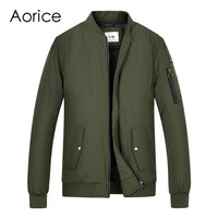 Aorice Men spring winter baseball uniform coat flying jacket women&men boys' Pilot suit army green black cloth QY905