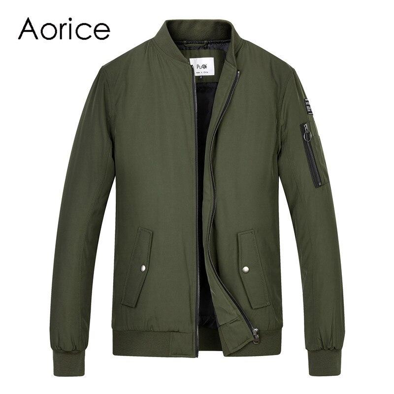 Aréglisse hommes printemps hiver baseball uniforme manteau veste volante femmes et hommes garçon pilote costume armée vert noir tissu QY905