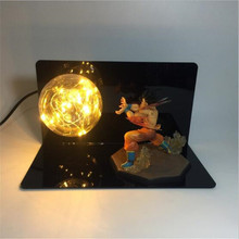 Dragon Ball Kamehameha Attack Super Saiyan Goku Son DIY Display Bedside Table Lamp EU US 220V 110V Night Lamp In Red Blue Green
