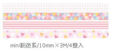 4 Pcs/Pack Mini Smile Pink Blue Purple Green Washi Tape Diy Scrapbooking Sticker Label Masking Tape School Office Supply by House Of Novelty