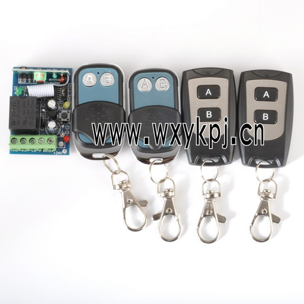 DC12V10A 1CH 1 Receiver And 4 Transmitter FOR Entrance guard door easy to install Learning code free shipping 12v 1ch learning code wireless remote control switch system 1 receiver and 1 transmitter for entrance guard door