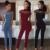 Mulheres de Gola Alta Jumpsuit 2017 Moda Das Senhoras Das Mulheres de Manga Curta Sólida Para Mulheres Macacão Preto Macacões de Corpo Inteiro 3 Cores