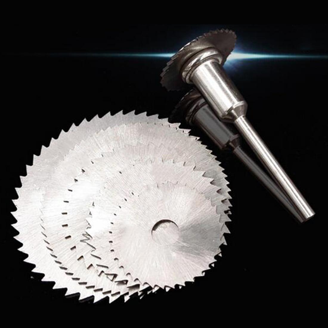 Wood Cutting Discs Drill Mandrel HSS Circular Saw Blades Cutting Discs Mandrel