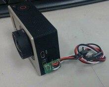דגי ליצן עבור אביזרי מצלמה Gopro Hero 3 3 + 4 פעולה FPV Gopro כבל פלט וידאו בזמן אמת מיני USB כבל AV, TL68A00 טארוט