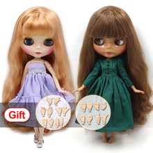 קפוא מזל ימים blyth בובת עירום רגיל ומשותף גוף עם יד סט AB במתנה BJD בובת אופנה ילדה צעצועים