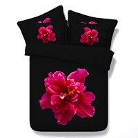 Stampa 3d set biancheria da letto consolatore copriletti copriletto copripiumino twin completa regina king size tessuto incredibile nero profondo rosa floreale