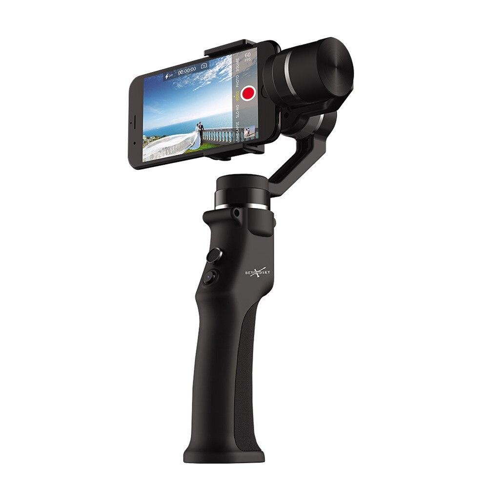 Stabilisateur intelligent électronique Anti-secousse de caméra de cardan de téléphone portable de trois axes pour l'iphone de Dslr