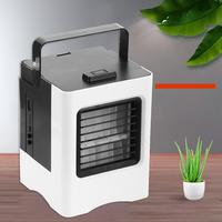 Portable Air Conditioner Humidifier USB Purifier Office Phone Holder Cooling Fan Set