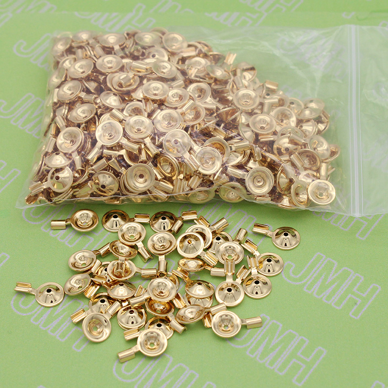 100pcs/bag High Quality Copper Plated Gold EEG Brain Cup Electrode Accessories,A Lie Detector Disc Thickening Electrode.