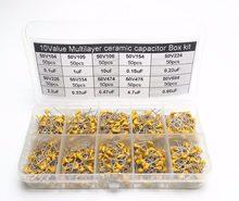 500 Uds 10Valuesx50 50V 100nF 1000nF 10000nF 150nF 220nF 2200nF 330nF 470nf 4700nf 680nf monolítico condensador cerámica multicapa
