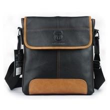 Fashion echtes kuh leder männlichen tasche Luxusmarken business-männer messenger bags schwarz casual Schulter reisetasche