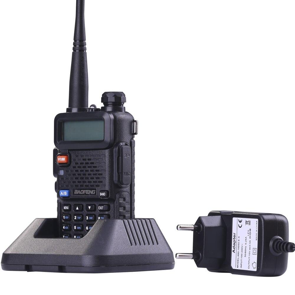 BaoFeng UV-5R Talkie Walkie Professionnel CB Radio Baofeng UV5R Émetteur-Récepteur 128CH 5 W VHF et UHF De Poche Chasse + USB programme câble