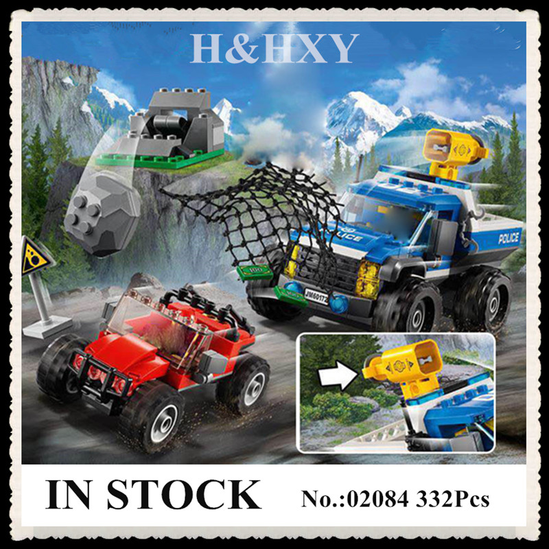 IN STOCK H&HXY 02084 New 332Pcs City Series The Dirt Road Pursuit Set 60172 LEPIN Building Blocks Bricks Funny Toys Model Gifts dhl lepin 02038 1767pcs city series the city square education building blocks bricks toys compatible 60097 in stock