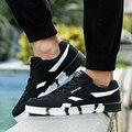 Novos Homens Sapatos Lace Up Designer Primavera Outono Homens Moda Casual Shoes Calçados Masculinos Para Homens Blue Black zapatos hombre