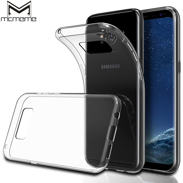 718d6eeeda MCMEME Transparent Case For Samsung Galaxy S8 Plus Case Luxury Slim Soft Silicone  Clear TPU Back Cover For Galaxy S8 Phone Case