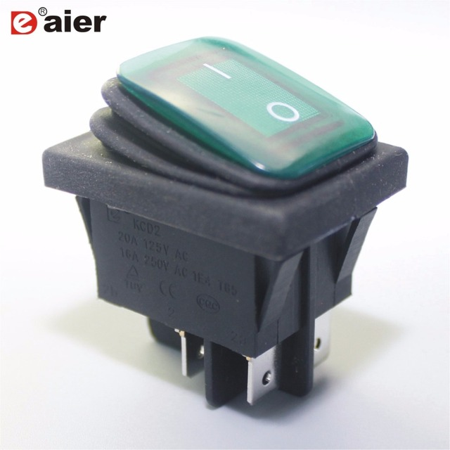 Waterproof ON OFF 4 Pins KCD2 2 201NW Rocker Switch IP65 SPST High ... 20fdeab0e18