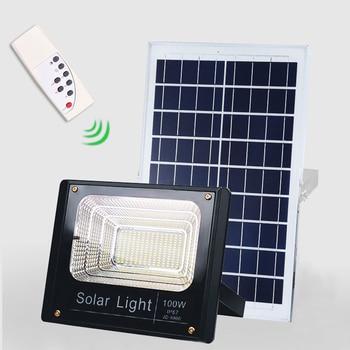 Super Bright Solar LED Light Spotlight 100W Light control Floodlight Tuinverlichting Street Lamp Waterproof IP67