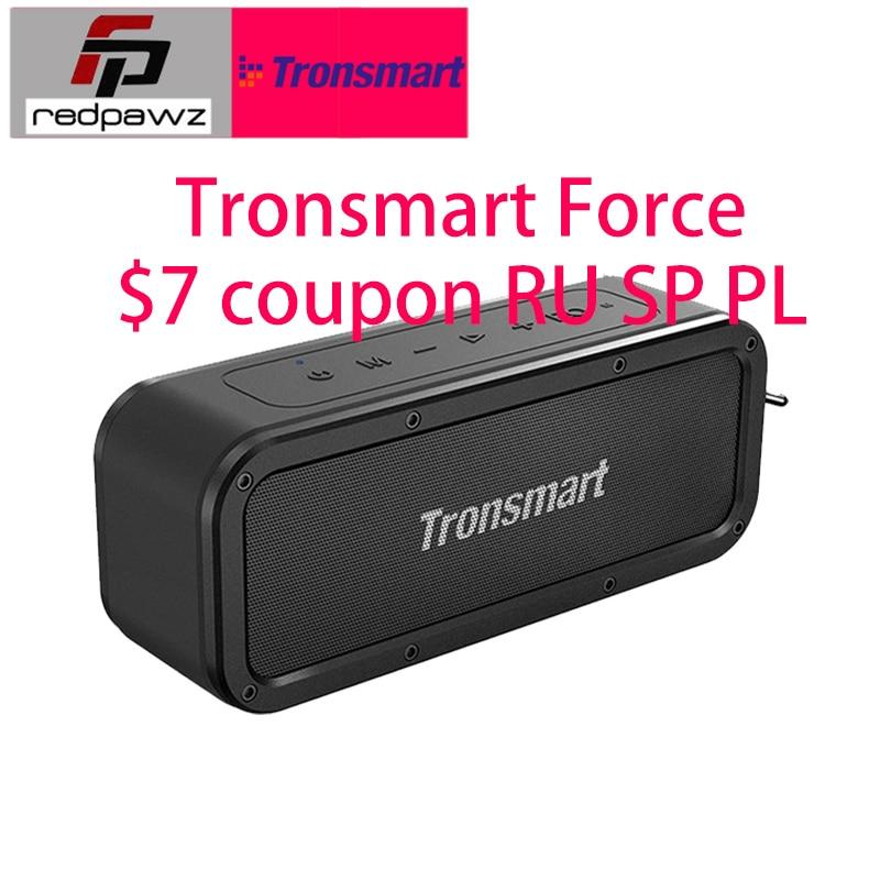 Original Tronsmart Element FORCE Bluetooth haut-parleur 7 $ Coupon moyenne 5 jours de livraison étanche sans fil haut-parleur grande batterie