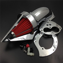 Aftermarket free shipping motorcycle parts Cone Spike Air Cleaner for  Kawasaki Vulcan 1500 1600 Classic 2000-2012 Chrome