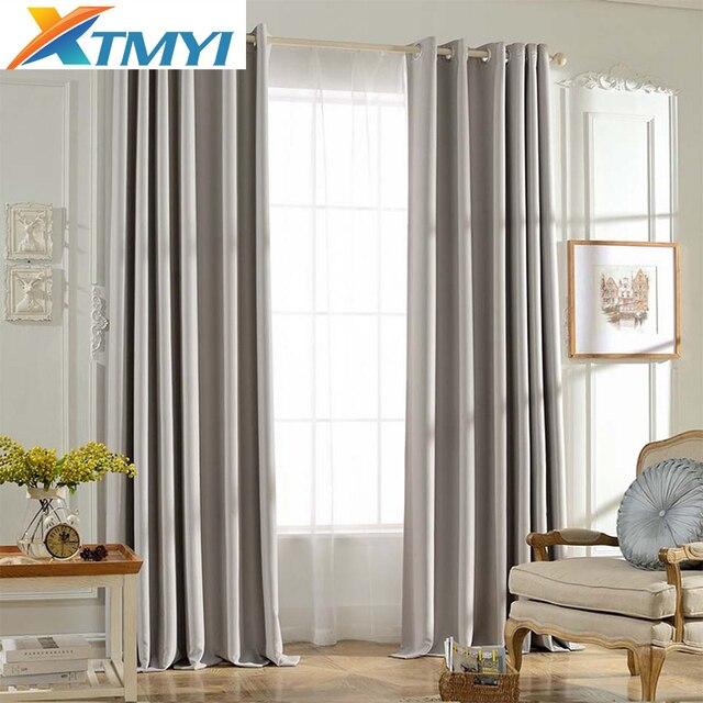 US $4.29 45% OFF|Solide Farben Blackout Vorhänge für die Schlafzimmer grau  farbe fenster vorhang wohnzimmer Jalousien Nach Maß in Solide Farben ...