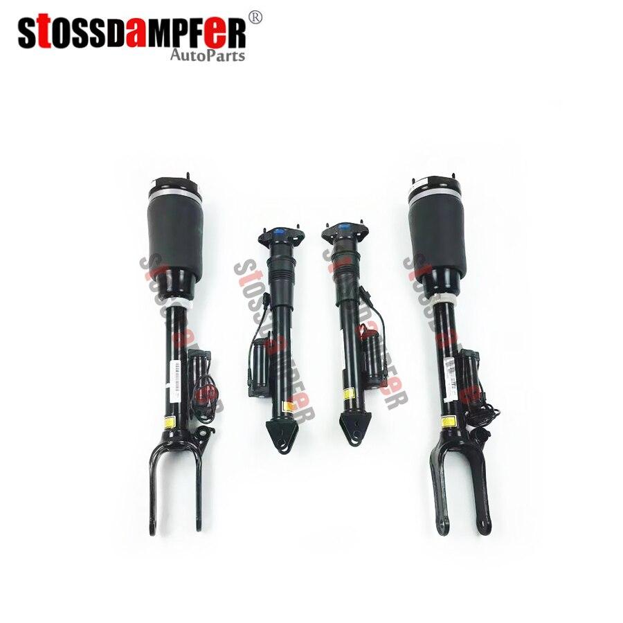 StOSSDaMPFeR 4 piezas amortiguador de choque con los anuncios de la suspensión trasera de aire para Mercedes-Benz GL ML W164 1643206013, 1643202031