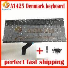 Дания Датский DK для Apple MacBook Retina A1425 клавиатура DK Дании Замена поздно 2012 начале 2013 года с помощью отвертки