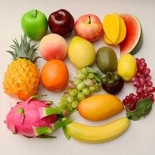 Пластик искусственные фрукты, арбуз Apple оранжевый груша лимонный манго персик Виноград банан аксессуары для украшения дома