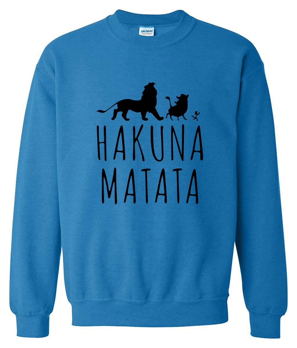 New arrival 2019 spring sweatshirt winter hoody fleece HAKUNA MATATA funny letter print hot men's sportswear hoodies harajuku